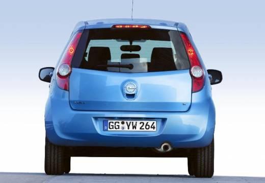 OPEL Agila hatchback niebieski jasny tylny