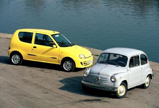 FIAT Seicento I hatchback żółty przedni prawy