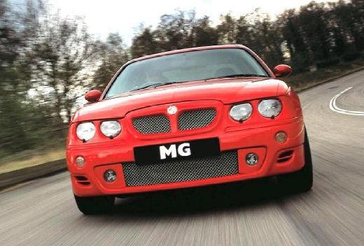 MG ZT sedan pomarańczowy przedni