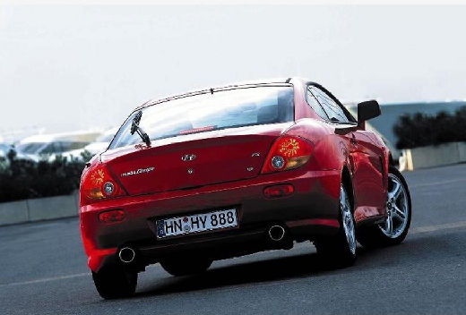 HYUNDAI coupe czerwony jasny tylny prawy