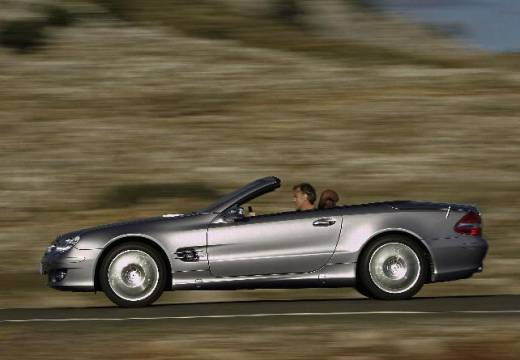 MERCEDES-BENZ Klasa SL roadster silver grey boczny lewy