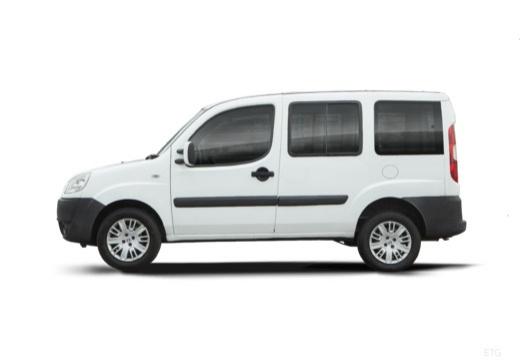 FIAT Doblo II kombi biały boczny lewy