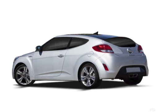 HYUNDAI Veloster I coupe silver grey tylny lewy