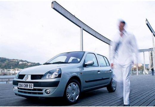 RENAULT Clio II II hatchback silver grey przedni lewy