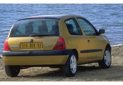 RENAULT Clio II I hatchback żółty tylny prawy