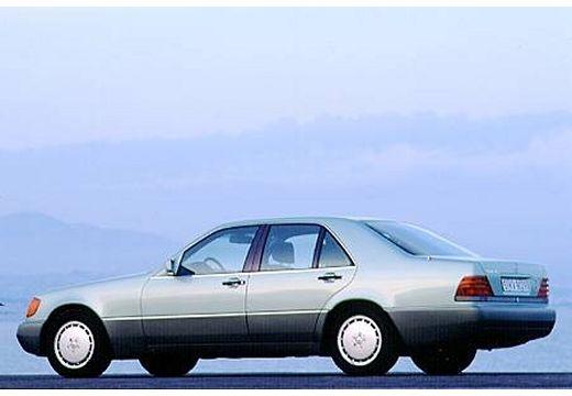MERCEDES-BENZ Klasa S W140 I sedan silver grey tylny lewy