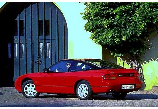 NISSAN 200 SX coupe czerwony jasny tylny lewy