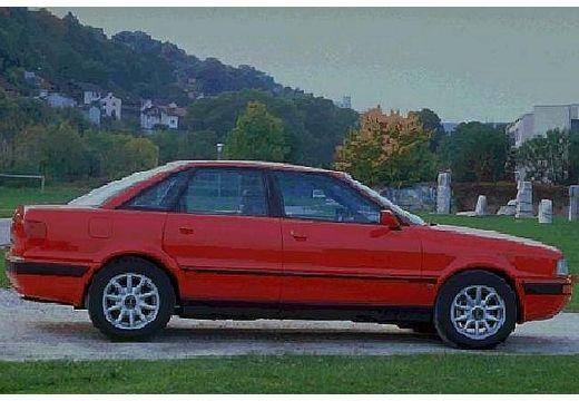 AUDI 80 B4 sedan czerwony jasny boczny prawy