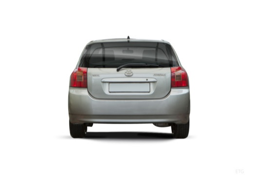 Toyota Corolla VI hatchback silver grey tylny