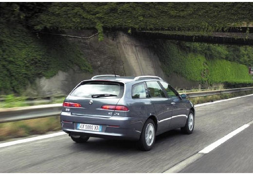 ALFA ROMEO 156 kombi czarny tylny prawy