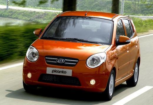 KIA Picanto II hatchback pomarańczowy przedni lewy