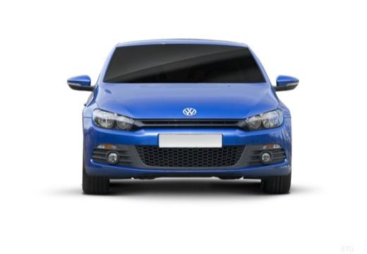 VOLKSWAGEN Scirocco III I coupe niebieski jasny przedni