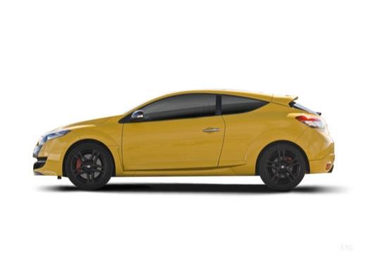 RENAULT Megane III Coupe I hatchback żółty boczny lewy