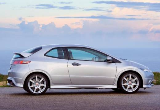 HONDA Civic VI hatchback silver grey boczny prawy