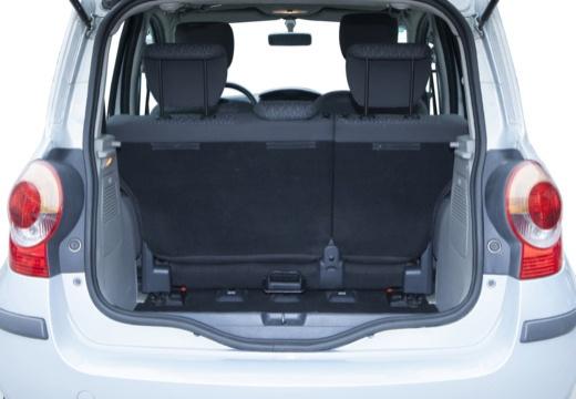 RENAULT Modus I hatchback niebieski jasny przestrzeń załadunkowa