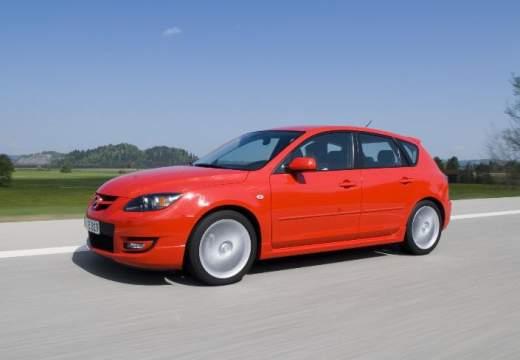 MAZDA 3 II hatchback czerwony jasny przedni lewy