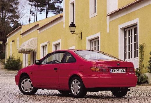 Toyota Paseo coupe czerwony jasny tylny lewy