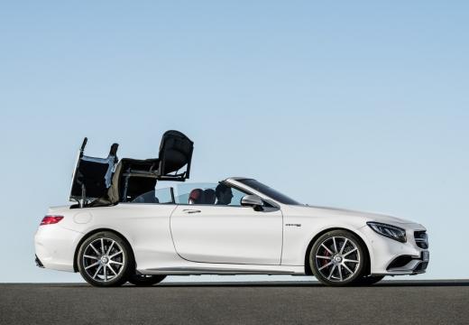 MERCEDES-BENZ Klasa S Coupe kabriolet biały boczny prawy