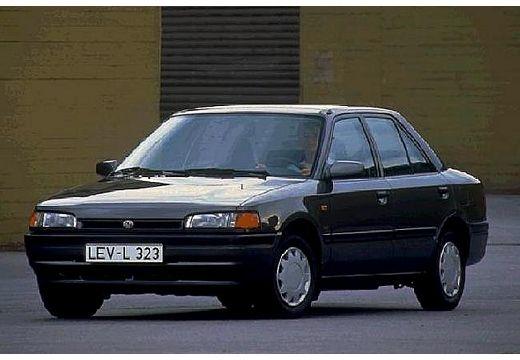 MAZDA 323 III sedan czarny przedni lewy