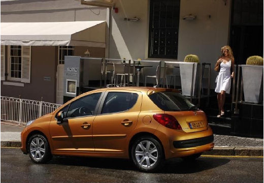 PEUGEOT 207 I hatchback złoty tylny lewy