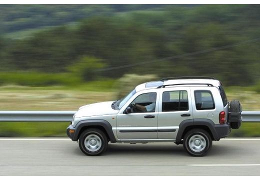 JEEP Cherokee II kombi silver grey boczny lewy