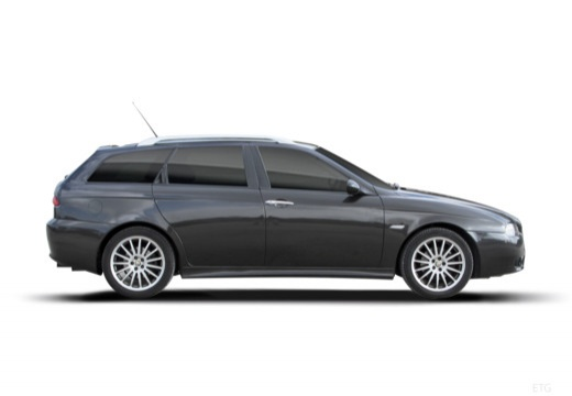 ALFA ROMEO 156 kombi czarny boczny prawy
