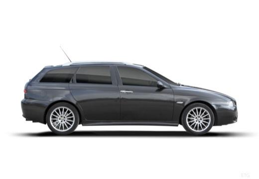 ALFA ROMEO 156 Sportwagon III kombi czarny boczny prawy