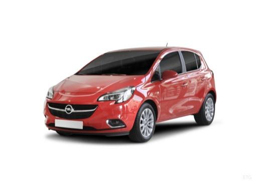 OPEL Corsa hatchback czerwony jasny przedni lewy