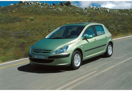 PEUGEOT 307 hatchback zielony jasny przedni lewy