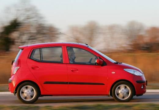 HYUNDAI i10 I hatchback czerwony jasny boczny prawy