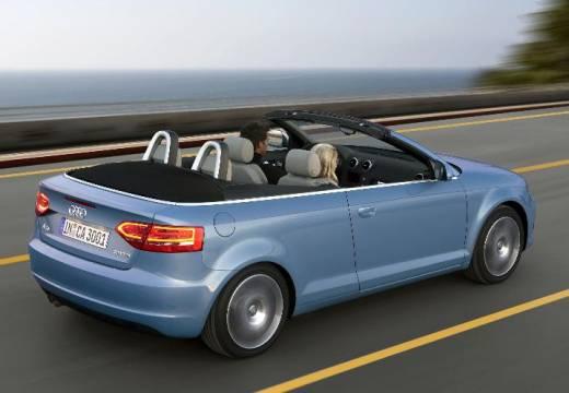 AUDI A3 kabriolet niebieski jasny tylny prawy