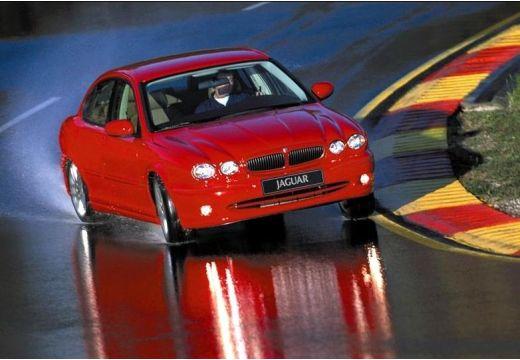 JAGUAR X-Type I sedan czerwony jasny przedni prawy