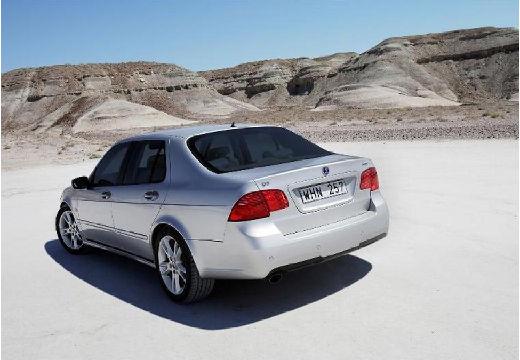 SAAB 9-5 III sedan silver grey tylny lewy