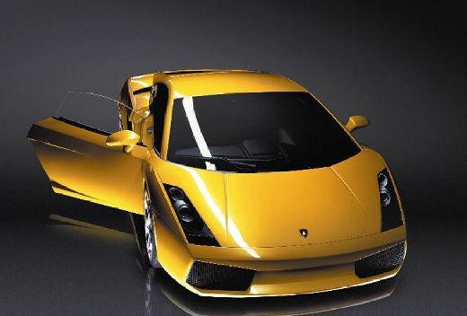 LAMBORGHINI Gallardo coupe żółty przedni prawy