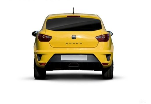 SEAT Ibiza V hatchback żółty tylny
