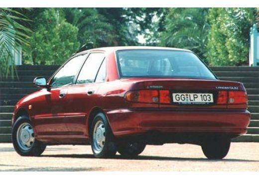 MITSUBISHI Lancer sedan bordeaux (czerwony ciemny) tylny lewy