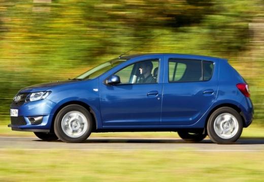 DACIA Sandero II hatchback niebieski jasny przedni lewy