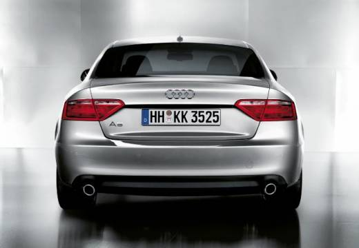 AUDI A5 I coupe silver grey tylny