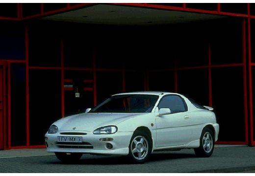 MAZDA MX-3 coupe biały przedni lewy