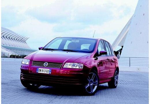 FIAT Stilo I hatchback bordeaux (czerwony ciemny) przedni lewy