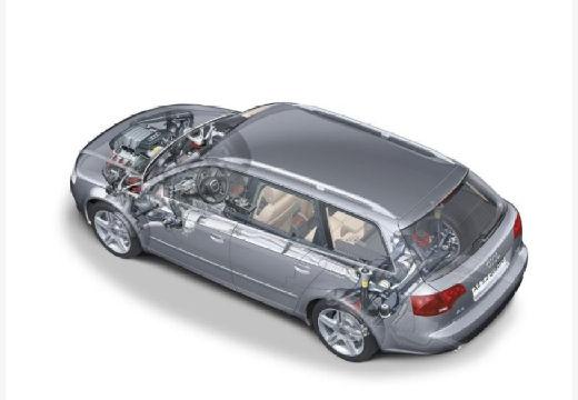 AUDI A4 Avant 8E II kombi silver grey prześwietlenie