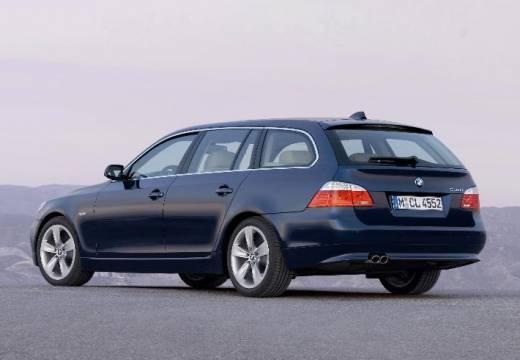 BMW Seria 5 Touring E61 II kombi niebieski jasny tylny lewy