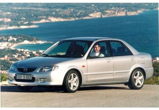 MAZDA 323 sedan silver grey przedni lewy