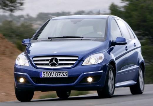 MERCEDES-BENZ Klasa B II hatchback niebieski jasny przedni lewy