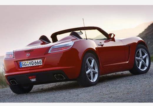 OPEL GT roadster czerwony jasny tylny prawy