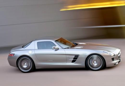 MERCEDES-BENZ SLS coupe silver grey przedni prawy