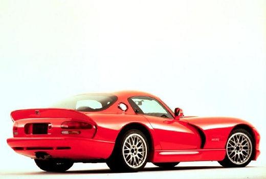 DODGE Viper Roadster coupe czerwony jasny tylny prawy