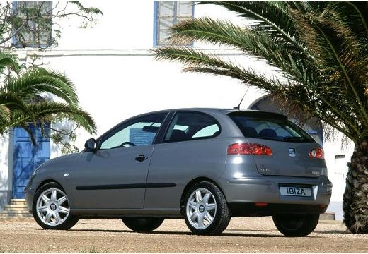 SEAT Ibiza hatchback szary ciemny tylny lewy