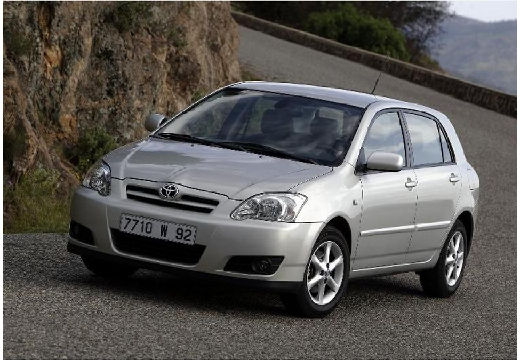 Toyota Corolla VII hatchback silver grey przedni lewy