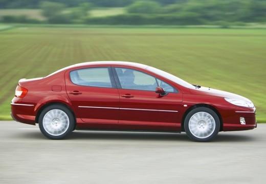 PEUGEOT 407 sedan czerwony jasny boczny prawy